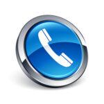 icône bouton internet téléphone